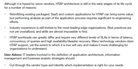 Gartner HTAP Point of View