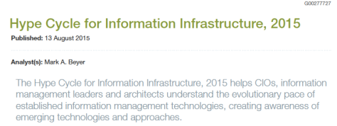 Gartner Report Information Infrastructures 2015 heading