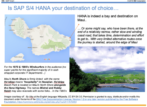 Is SAP HANA your destination ?